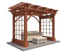 Pergola 3 3D Model