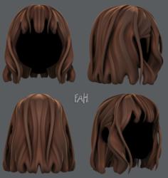 3D Hair style for girl V24 3D Model