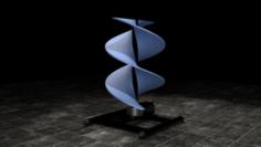 Vertical sci-fi wind turbine 3D Model