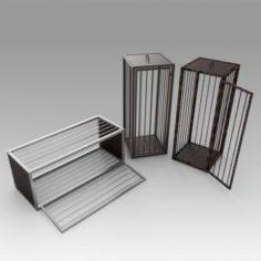 Medieval cages 3D Model