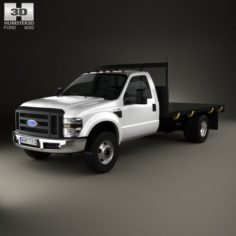 Ford F-350 Regular Cab Flatbed 2010 3D Model