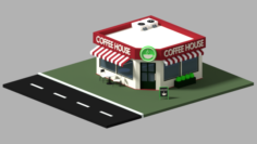 Koffee Haus Low Poly 3D Model