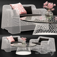 Coalesse Ivy Chair & Emu Table                                      3D Model