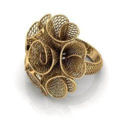 Flower ring 4 3D Model