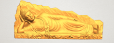 Sleeping Buddha 03 3D Model