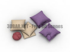 Set pillows 3D Collection