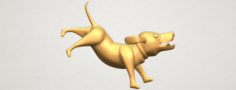 Dog Cartoon 05 3D Model