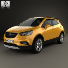Opel Mokka X 2017 3D Model