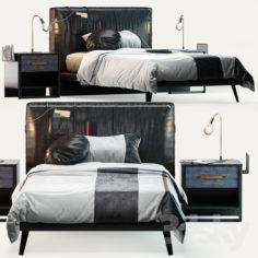 Cilek Dark Metal Bed                                      3D Model
