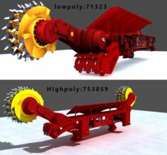 Coal Mining Machine 3D Model