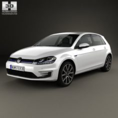Volkswagen Golf GTE 2015 3D Model