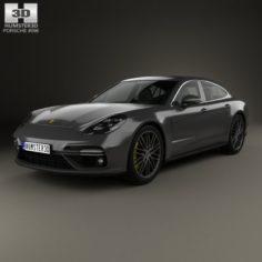 Porsche Panamera Turbo 2017 3D Model
