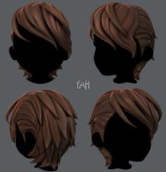 3D Hair style for boy V19 3D Model