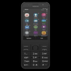 NOKIA 230 DS DARK SILVER 3D Model