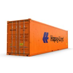 40 feet High Cube Hapag Lloyd shipping container 3D Model