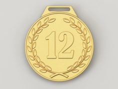 12 years anniversary medal 3D Model