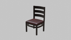 Restaurant Dining Chair 1 3D Model