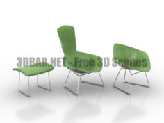 Formdecor Harry Bertoia Bird Chair 3D Collection