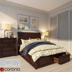 Thomas Cole Bedroom 3D Model