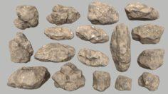 Desert rocks 3D Model