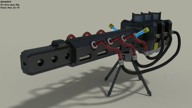 GUN NO 2 3D Model