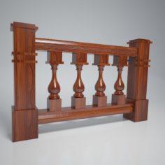Balustrade Vase Wood Kit 3D Model