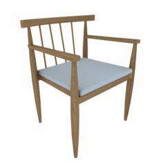 Chair wood Orleans 3D Model