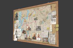 Detective Pinboard 3D Model