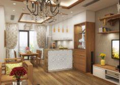 Apartment livingroom asian 3D Model