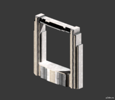 Conference Window Frame (smal & large) 3D Model