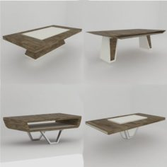 4 modern coffee tables 3D Model