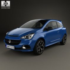 Vauxhall Corsa E VXR 3-door hatchback 2015 3D Model