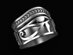 Ring Eye of Horus Ankh 3D print model 3D Model