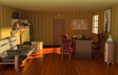 Classic detective office 3D Model