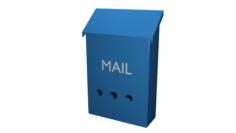 Mailbox High poly made in blender 3D 3D Model