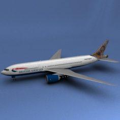 Boeing 777 British Airways Water Dreaming 3D Model