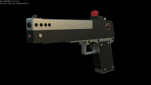 GUN NO 1 3D Model
