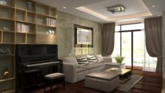 Apartment livingroom small 3D Model