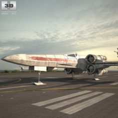 T-65 X-wing Fighter 3D Model