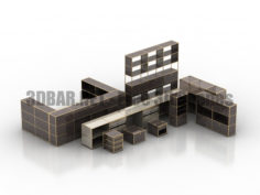 USM Modular Furniture part 02 Lockers 3D Collection