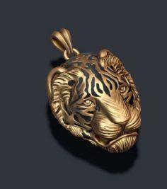 Tiger pendant 3D Model