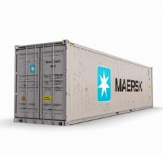40 feet High Cube Maersk shipping container 3D Model