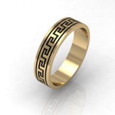 Fashion greek wedding ring 3D Model