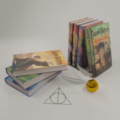 Books of Harry Potter 3D Model