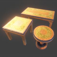 PBR – Table Set 1 3D Model