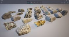 Rocks pack lowpoly 3D Model