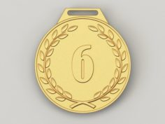 6 years anniversary medal 3D Model