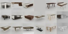 Big collection of modern tables 3D Model