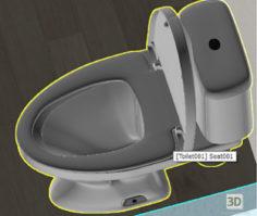 3D-Model  Toilet