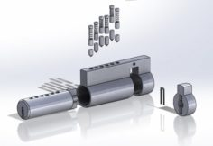 Plug Euro Lock 3D Model